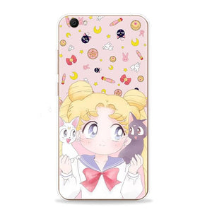 White/Pink Kawaii Sailor Moon Phone Case SP1710486
