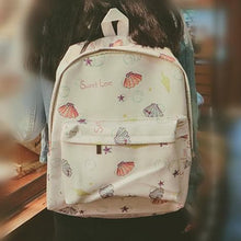 Load image into Gallery viewer, White/Pink Leisure Shell Pattern Backpack SP166822 - Harajuku Kawaii Fashion Anime Clothes Fashion Store - SpreePicky