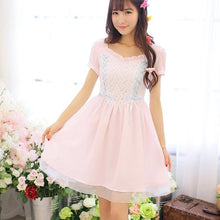 Load image into Gallery viewer, White/Pink Snow White Sweet Princess Dress SP152918 - SpreePicky  - 3
