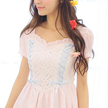 Load image into Gallery viewer, White/Pink Snow White Sweet Princess Dress SP152918 - SpreePicky  - 5