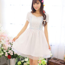 Load image into Gallery viewer, White/Pink Snow White Sweet Princess Dress SP152918 - SpreePicky  - 4