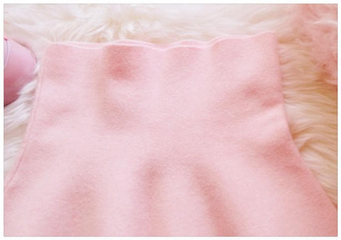 White/Pink Sweet High Waist Soft Plush Skirt SP164879 - SpreePicky  - 6