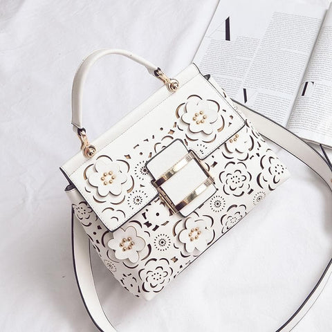 White/Red/Black Sweet Flower Handbag SP1710513