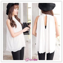 Load image into Gallery viewer, 3 Colors Chiffon Sleeveless Halt Top SP151947 - SpreePicky  - 2