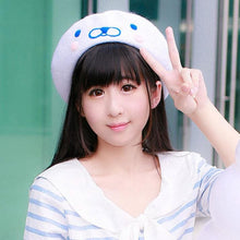 Load image into Gallery viewer, [Reservation] White Cutie Seal Beret Hat SP153426 - SpreePicky  - 1