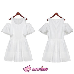 [S-XL] White Elegant Chiffon Dress SP151816 - SpreePicky  - 2