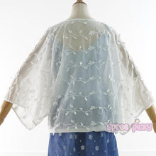 Load image into Gallery viewer, White Elegant Floral Chiffon Cardigan SP166184