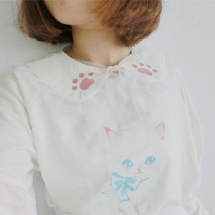Kawaii Cat Paw Lace Collar Accessory SP165949