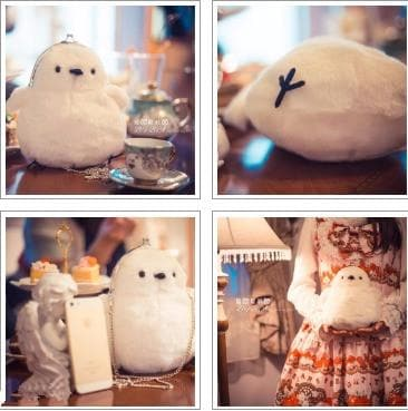 White Kawaii Lolita Chick Shoulder Bag SP168065