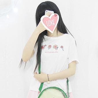 White Watermelon Pattern T-Shirt SP167025