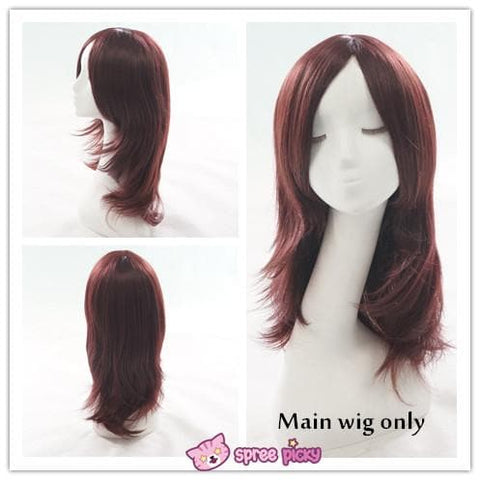 Wine Caramel Mixed Color Long Wig with 2 Pony Tails SP152050 - SpreePicky  - 2
