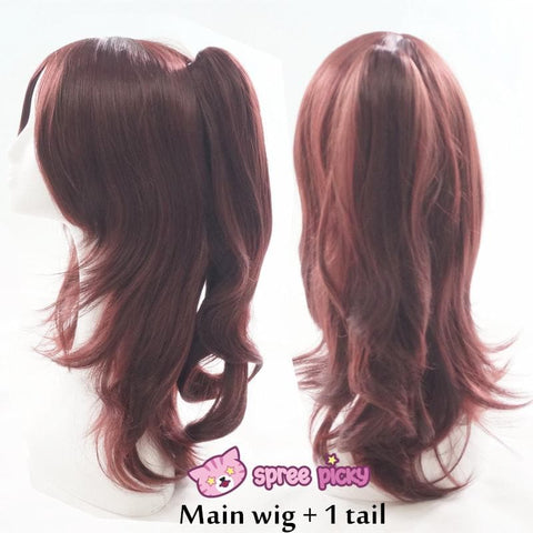Wine Caramel Mixed Color Long Wig with 2 Pony Tails SP152050 - SpreePicky  - 3
