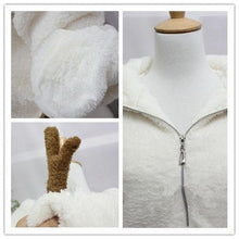 Load image into Gallery viewer, Winter Fluffy Lovely Deer Horn Hoodie Beige Coat SP130231 - SpreePicky  - 4