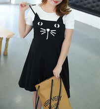 Load image into Gallery viewer, XL-4XL Kawaii Neko Cat False Two-Piece Family Dress SP165975