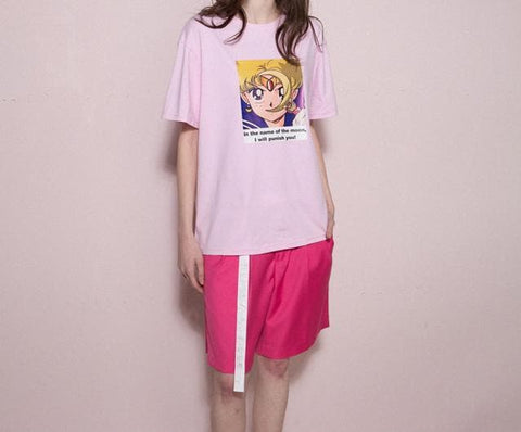 XS-L Anime Sailor Moon Prints T-Shirt SP166768