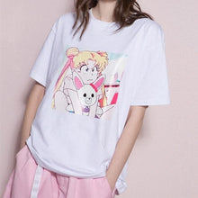 Load image into Gallery viewer, XS-L Anime Sailor Moon Prints T-Shirt SP166768