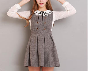 XS-L Grey/Coffee A Shape Sleeveless Dress SP154284 - SpreePicky  - 5