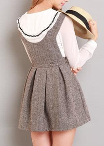 XS-L Grey/Coffee A Shape Sleeveless Dress SP154284 - SpreePicky  - 8