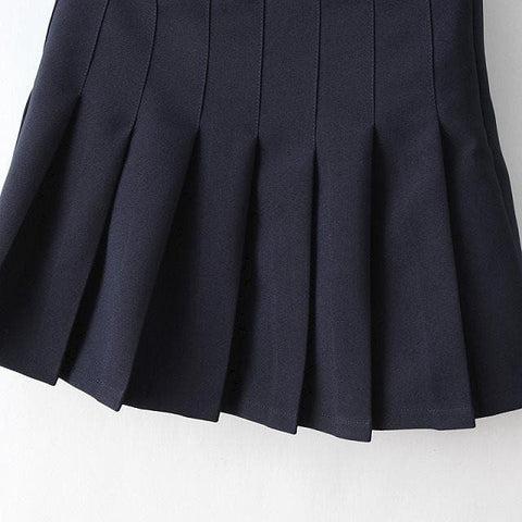XS-L High Waist Pleated Tennis Pantskirt/Skirt SP153892 Page1 - SpreePicky  - 17