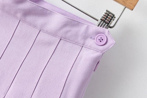 XS-L High Waist Pleated Tennis Pantskirt/Skirt SP153892 Page1 - SpreePicky  - 15