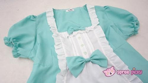 XS - 4XL Mint/Pink Pastel Candy Maid Dress SP152182 - SpreePicky  - 10