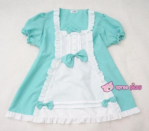 XS - 4XL Mint/Pink Pastel Candy Maid Dress SP152182 - SpreePicky  - 9