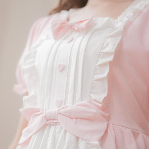 XS - 4XL Mint/Pink Pastel Candy Maid Dress SP152182 - SpreePicky  - 2