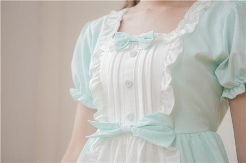 XS - 4XL Mint/Pink Pastel Candy Maid Dress SP152182 - SpreePicky  - 3