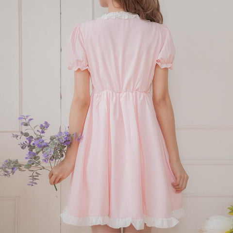 XS - 4XL Mint/Pink Pastel Candy Maid Dress SP152182 - SpreePicky  - 4