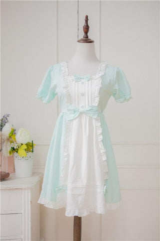 XS - 4XL Mint/Pink Pastel Candy Maid Dress SP152182 - SpreePicky  - 6