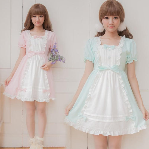 XS - 4XL Mint/Pink Pastel Candy Maid Dress SP152182 - SpreePicky  - 1