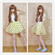 Load image into Gallery viewer, Yellow Hight Waist Polka Dots Sweet Dress SP130102 - SpreePicky  - 2