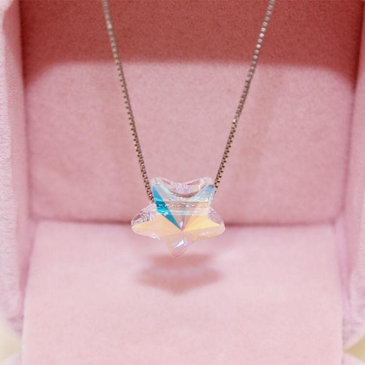 [Your Name] Kawaii Star Silver Necklace SP178657