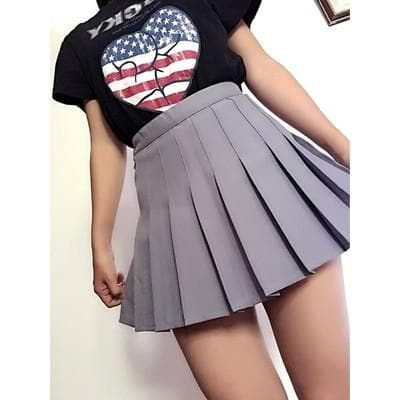 XS-L High Waist Pleated Tennis Pantskirt/Skirt SP153892 Page1 - SpreePicky  - 20
