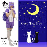 Screaming! Sailor Moon Luna Artemis Kitten with Tail on Back Legging Tights SP141305 - SpreePicky  - 8