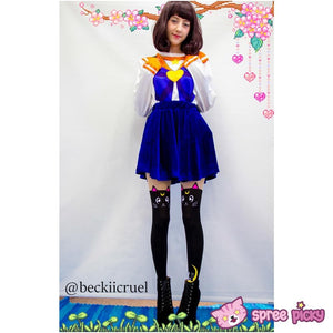 Screaming! Sailor Moon Luna Artemis Kitten with Tail on Back Legging Tights SP141305 - SpreePicky  - 6