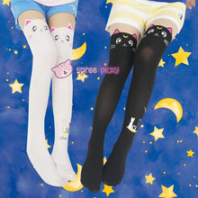 Load image into Gallery viewer, Screaming! Sailor Moon Luna Artemis Kitten with Tail on Back Legging Tights SP141305 - SpreePicky  - 1