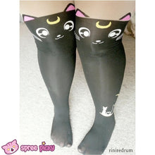Load image into Gallery viewer, Screaming! Sailor Moon Luna Artemis Kitten with Tail on Back Legging Tights SP141305 - SpreePicky  - 9
