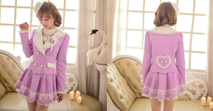 S/M/L Purple Elegant Coat SP153620 - SpreePicky  - 2