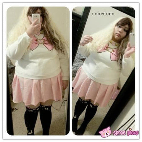[S-XL]Sailor Chibi Moon Fleece Jumper Top SP141185 - SpreePicky  - 3