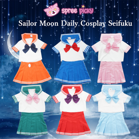 6 colors Daily Cosplay [Sailor Moon Series] Sailor Seifuku Uniform Set - SpreePicky  - 2