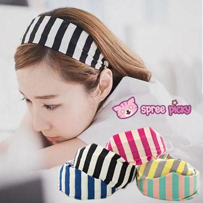 5 Colors Stripes Cotton Hair Band SP152015 - SpreePicky  - 1