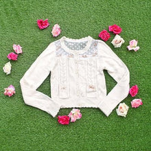 Load image into Gallery viewer, White/Beige/Pink Mori Girl Knitted Sweater Cardigan Jacket SP153443 - SpreePicky  - 4