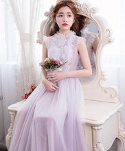 Load image into Gallery viewer, Cute Tulle Lace Long Prom Dress, Evening Dress - DelaFur Wholesale