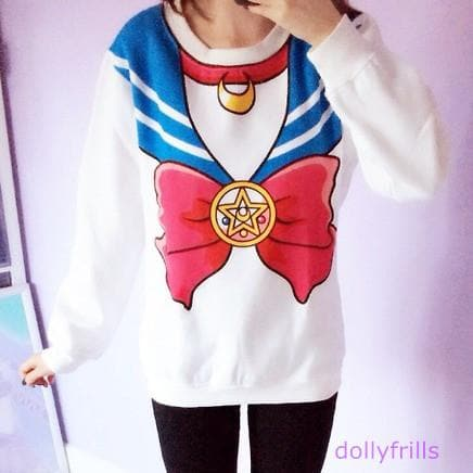 [M/XL]Sailor Moon Sweater Fleece Jumper SP130203 - SpreePicky  - 5