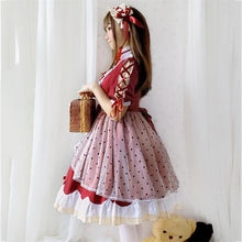 Load image into Gallery viewer, Lolita Cute Red Bow Princess Dress SS0885