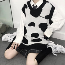 Load image into Gallery viewer, Playful Cute Cow Pattern Sweater Vest SS0912
