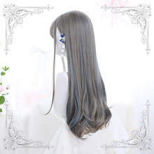 Load image into Gallery viewer, Lolita Gray Blue Highlighting Long Curly Wig SS0702