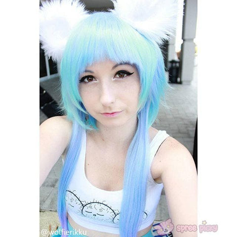 [Harajuku] Cosplay Gradual Blue and Purple Color Wig SP130189 - SpreePicky  - 4