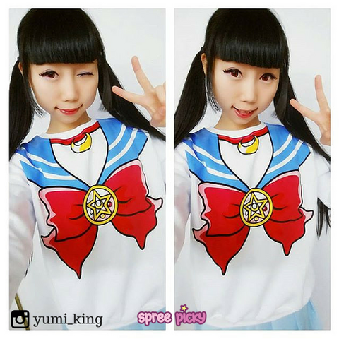 [M/XL]Sailor Moon Sweater Fleece Jumper SP130203